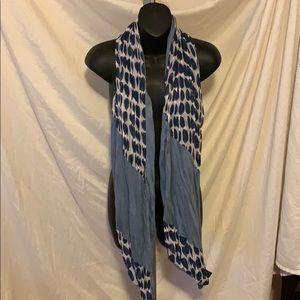Blue polka dot soft scarf